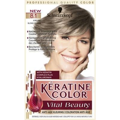 Schwarzkopf Keratine Color Haarverf 8.1 Asblond