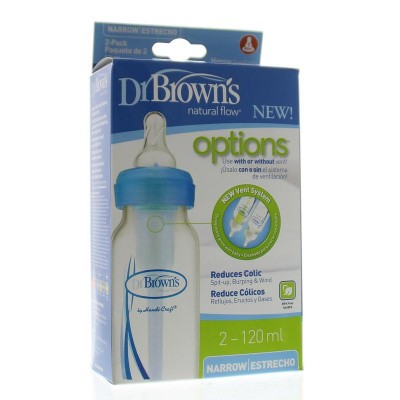 DR Brown's Standaardfles 120 ml duo blauw options