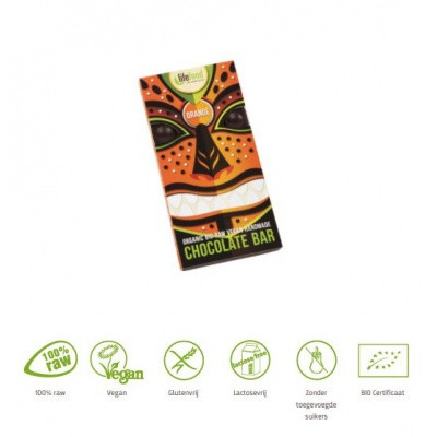Lifefood Rauwe chocolade sinaasappel bio