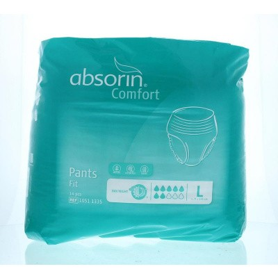 Absorin Comfort pants fit large tot 145 cm