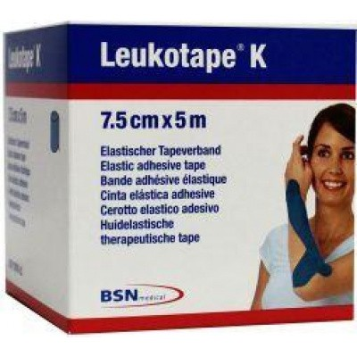 Leukotape K 5 m x 7.5 cm blauw