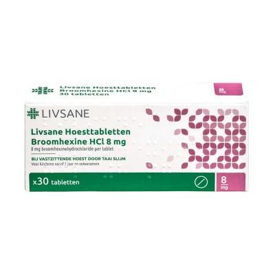 Hoesttablet broomhexine 8 mg