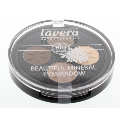 Lavera Eyeshadow beautiful quattro capuccino cream 02