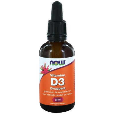 NOW Vitamine D3 druppels 400IE