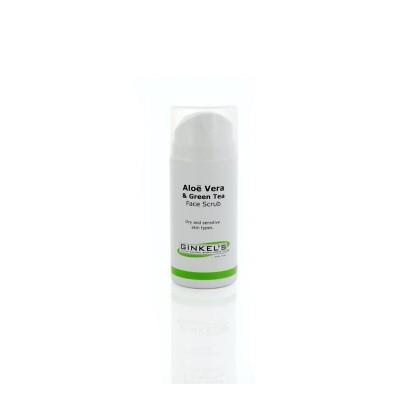 Ginkel's Aloe vera & green tea face scrub cream