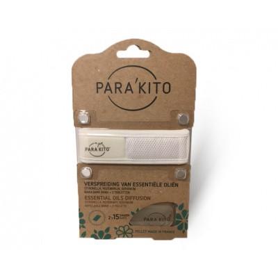 Parakito Armband wit met 2 tabletten