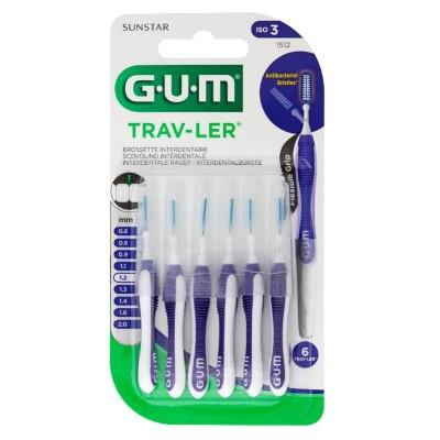 GUM Trav-ler ragers 1.2 mm paars