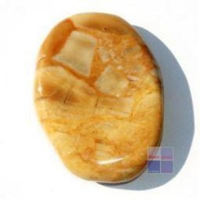 Steengoed Platte stenen jaspis geel