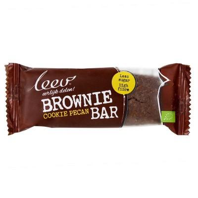 Leev Bio cookiebar brownie pecan 35 gram