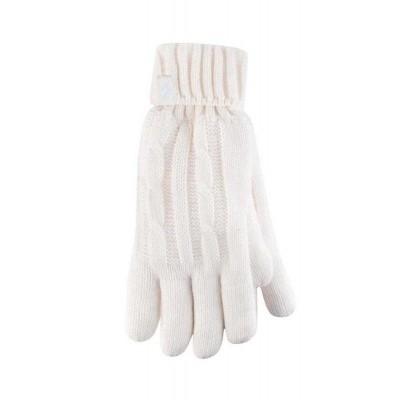 Heat Holders Ladies cable gloves M/L cream