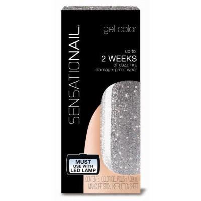Sensationail Color gel silver glitter