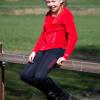 Foto van Kingsland Junior Set Meisjes Rijlegging + Fleecevest Rood/Blauw