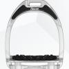 Foto van Flex-On stijgbeugels, Aluminium, Zilver - zwart, ultragrip