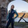 Foto van Kingsland Igantia Dames Fleece Jas Hydro Blauw