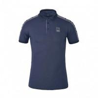 Foto van Kingsland Seward Heren Tec Pique Shirt, Blauw Ombre