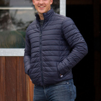 Eqode By Equiline Heren Padded Bomber, Blauw