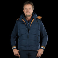Flags and Cup Parkano Heren Bodywarmer Blauw