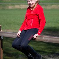 Kingsland Junior Set Meisjes Rijlegging + Fleecevest Rood/Blauw