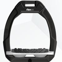 Flex-On stijgbeugels, Safe On, Zwart- grijs, ultragrip