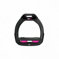Flex-On stijgbeugels, Safe On Junior, Zwart - pink, griptreat