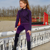 Kingsland Set: Rijlegging + Trainingsshirt Lila