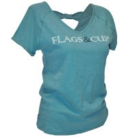 Foto van Flags and Cup Amazula Dames T-Shirt Groen Celadon