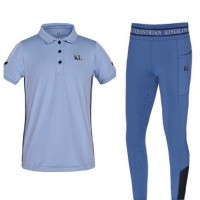 Kingsland Junior Set Meisjes Rijlegging + Polo Blauw Moonlight