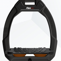 Flex-On stijgbeugels, Safe On, Zwart- bruin, ultragrip