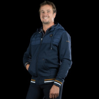 Flags and Cup Enno Heren Hoodie Blauw