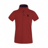 Kingsland Ales Tec Pique Polo Shirt Jongens, Rood