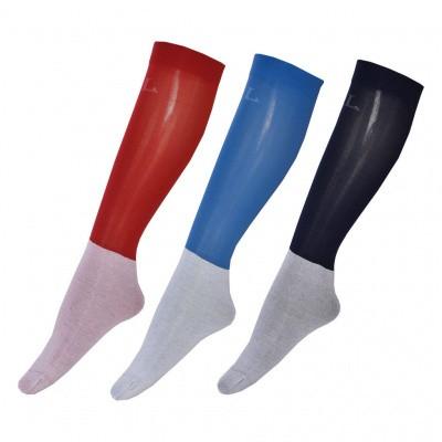 Foto van Kingsland Basil Unisex Show Socks 3-pack (rood/zwart/blauw)
