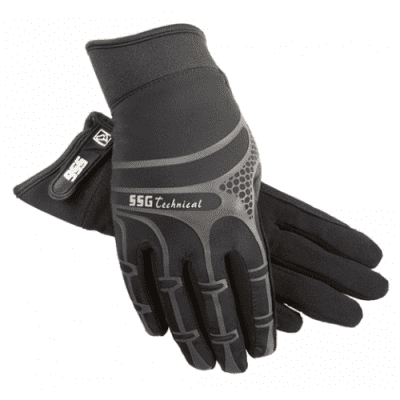Foto van SSG Gloves, Rijhandschoenen Technical Style 8500, Zwart