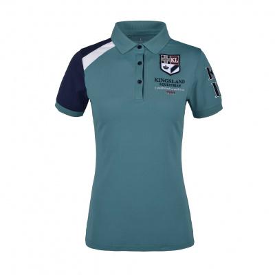 Foto van Kingsland Iezabel Dames Polo Shirt Hydro Blauw