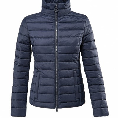 Foto van Eqode By Equiline Dames Padded Bomber, Blauw