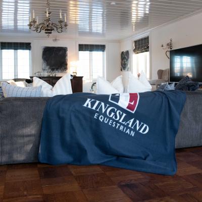 Foto van Kingsland Fleece Deken Blauw