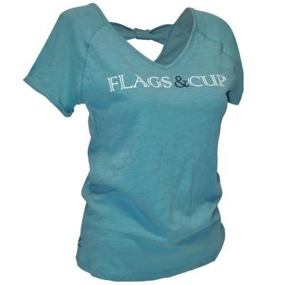 Foto van Flags and Cup Amazula Dames T-Shirt Groen Celadon