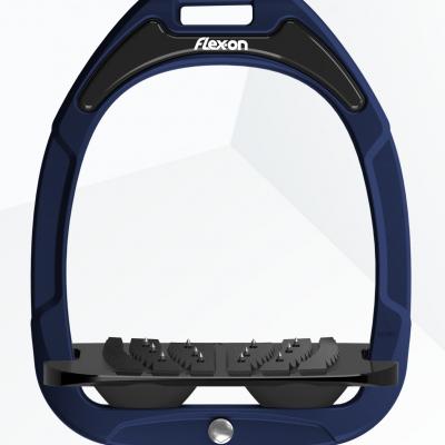 Foto van Flex-On stijgbeugels, Green Composite, Blauw - Zwart, ultragrip