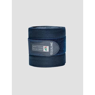 Foto van Equiline Polo Fleece Bandages Blauw 4 stuks