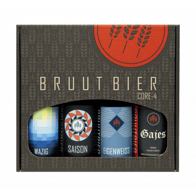 Foto van 4-pack Core bieren Bruut - Digi-Borrel Box!