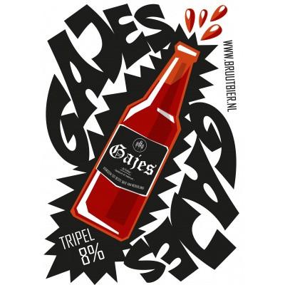 Foto van Gajes RISO-print poster