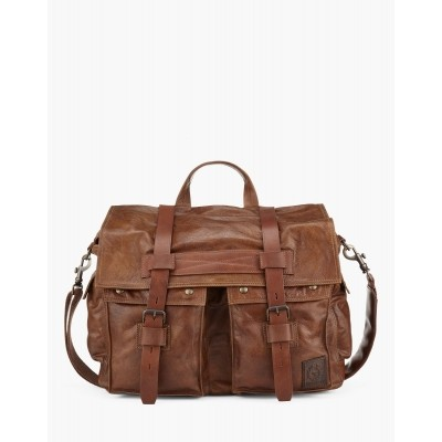 Belsatff Messenger Bag cognac