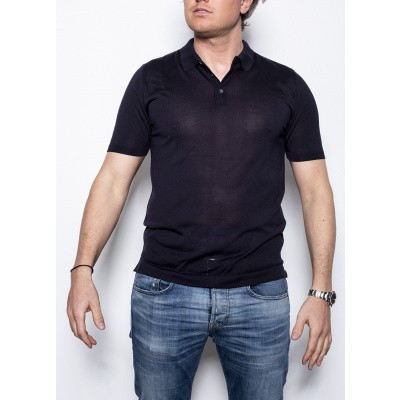 Bellwood Silk Polo Dark Navy