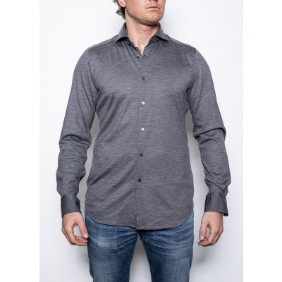 Windsor Laze shirt Wool Grey