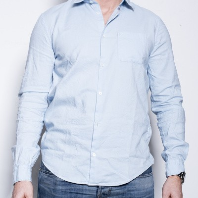Dondup Shirt Con Taschino Blue