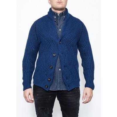 Circolo Giacca Collo Wool Blue