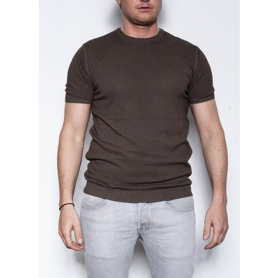 Kris K Elba Girocollo knit T Brown