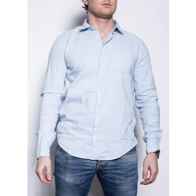 Dondup Shirt Con Taschino Blue