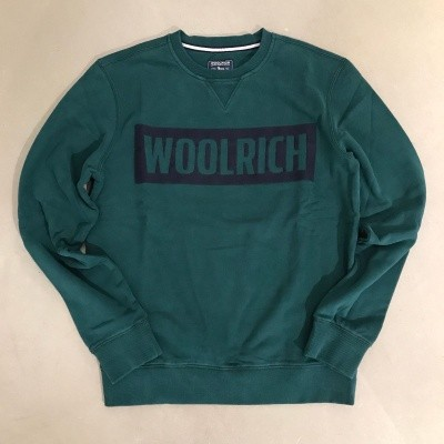 Woolrich Logo Crew Neck Sweater Green