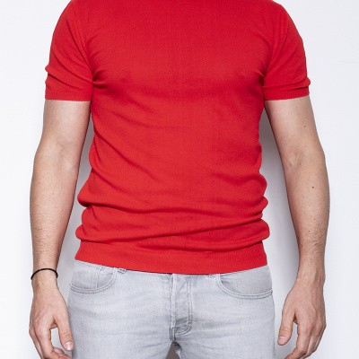 ​Kris K Elba Girocollo Knitted T Red