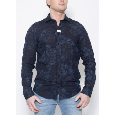 Blue de Genes Miguel Linnen Shirt